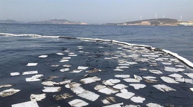Foça'daki akaryakıt sızıntısına ilişkin şüpheli 22 gemi inceleniyor