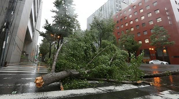 Japonya'da Jebi tayfunu: Yüz binlerce insan için tahliye emri