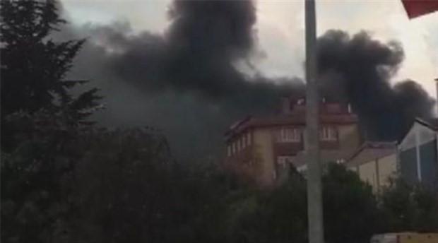 Beylikdüzü'nde fabrikada yangın