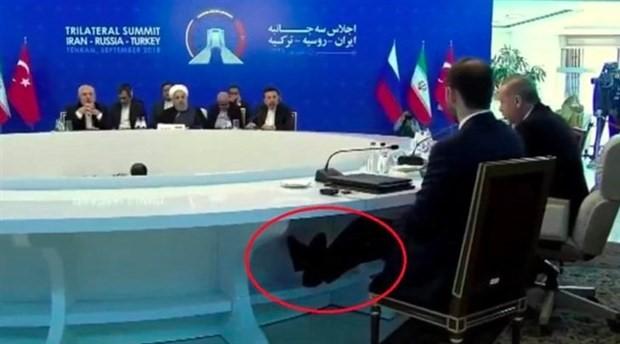 Tahran zirvesinde Albayrak kameralara takıldı