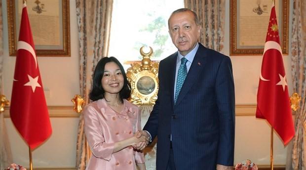 Erdoğan, Japon prensesle görüştü