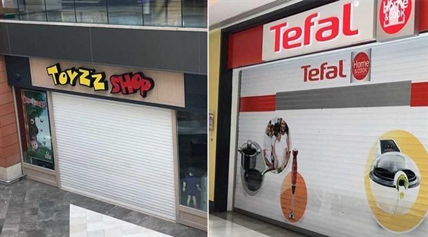 AVM'lerdeki mağazalardan dolarla kiraya karşı kepenk kapatma eylemi