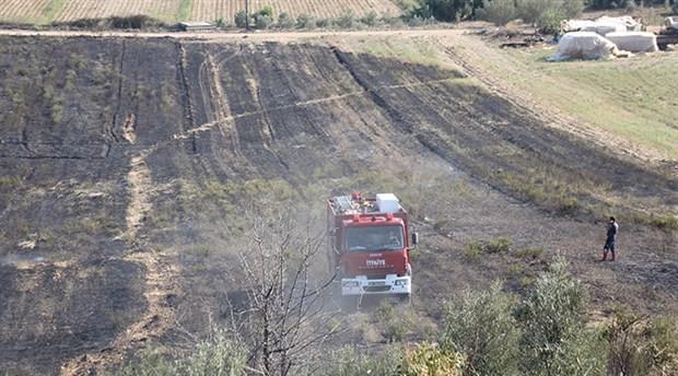 Antalya'da yangın: 25 dönüm arazi zarar gördü