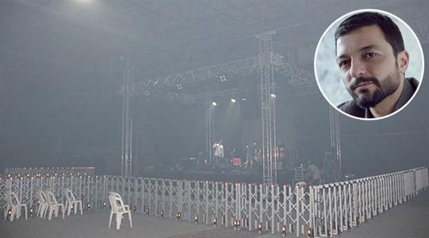Kebap dumanı Mehmet Erdem konserini iptal ettirdi