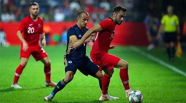 Rize'de oynanan Türkiye-Bosna Hersek maçı golsüz bitti