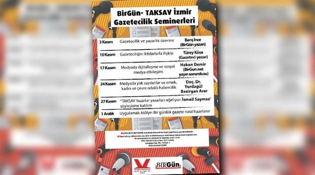 BirGün-TAKSAV İzmir Gazetecilik Seminerleri başlıyor