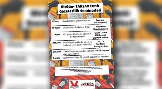 TAKSAV İzmir Gazetecilik Seminerleri 2. haftasında