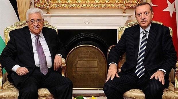 Erdoğan, FilistinDevlet Başkanı Abbas ile görüştü