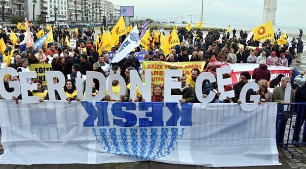 KESK krize karşı İzmir'de: Haklarımız için bir aradayız