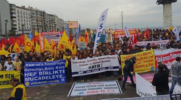 Binlerce işçi ve emekçi İzmir'den haykırdı: Borçlu değil alacaklıyız!