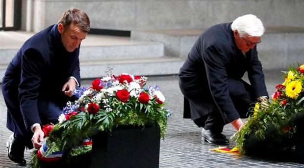 Macron: Almanya ve Fransa dünyanın kaosa sürüklenmesine izin vermemeli