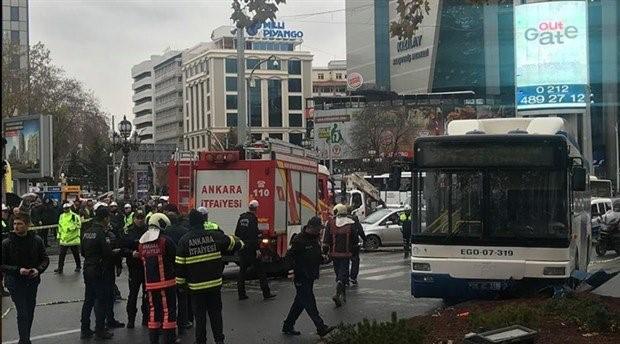 Ankara'da belediye otobüsü yayalara çarptı