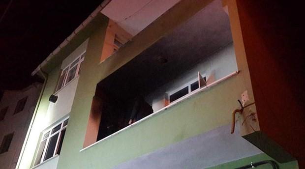 Evde elektrikli sobadan yangın çıktı