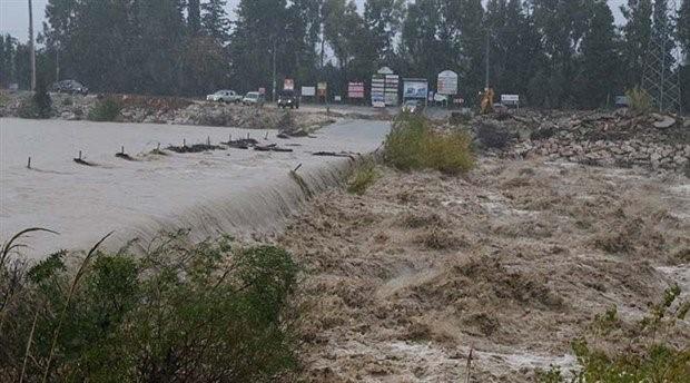 Antalya'da şiddetli yağış