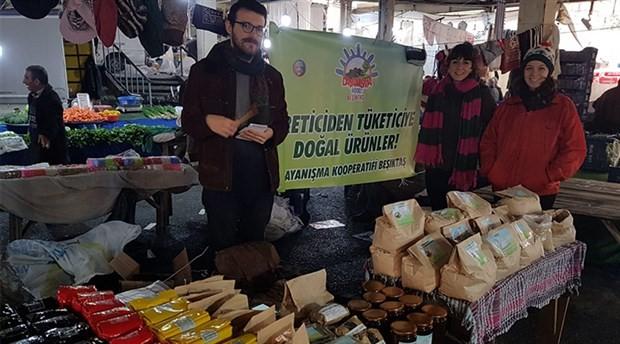 Dayanışma Kooperatifi Beşiktaş pazarında