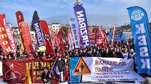 Bakırköy'de binlerce kişi, emeğin hakları için buluştu