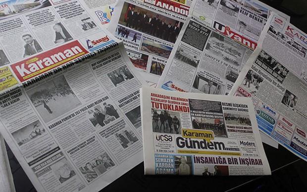 Karaman'da günlük 6 gazete, haftalık yayına geçti