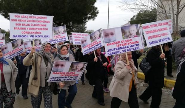 Salihli'de JES bilgilendirme toplantısı protesto edildi