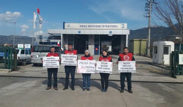 İşçi Dayanışma Derneği'nden Muğla Tüvtürk işçilerine destek