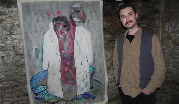 8 kişinin yaşadığı Lübbey köyünde resim sergisi