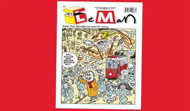"""Leman dergisi, Alper Taş'ı kapağına taşıdı: """"Beyoğlu'na yeni bir umut"""""""