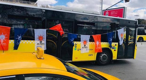 İBB'den AKP mitingine bedava otobüs