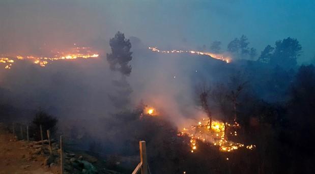 Isparta'da orman yangını: 8 hektar orman yandı
