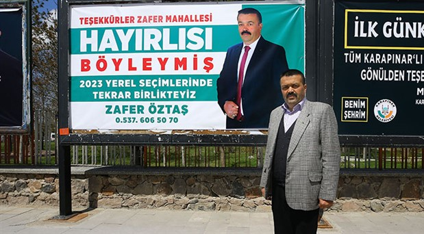 Seçimi kaybeden adaydan teşekkür pankartı: Hayırlısı böyleymiş