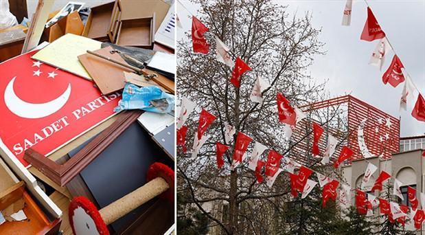 Saadet Partisi Genel Merkezi tahliye edildi
