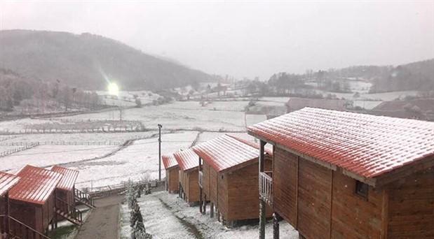İznik'e kar yağdı