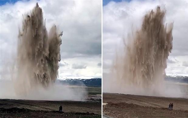 Palandöken Barajı'nın boru hattı patladı, Erzurum susuz kaldı