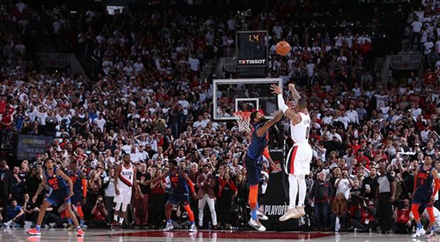 Portland son saniye basketiyle tur atladı