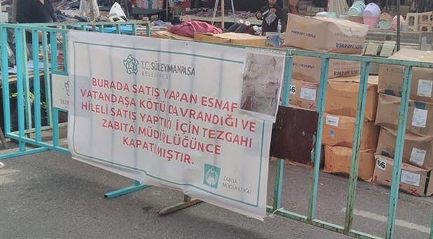 Tekirdağ'da müşterilere kötü davranan pazarcının tezgahı kapatıldı