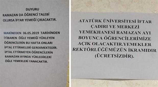 Üniversite yemekhanelerine 'Ramazan' müdahalesi