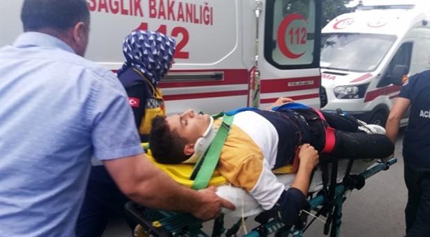 """Büyükçekmece'de """"drift"""" terörü: 7 lise öğrencisi yaralandı"""