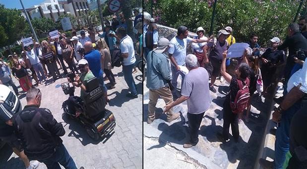 Bodrum halkı plaj işgallerine tepkili