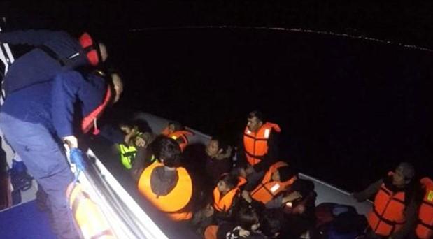 Çanakkale'de 34 göçmen alıkonuldu
