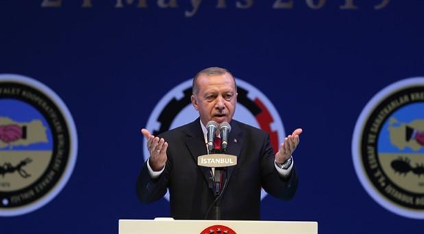Erdoğan: Bizim literatürümüzde UBER diye bir şey yoktur
