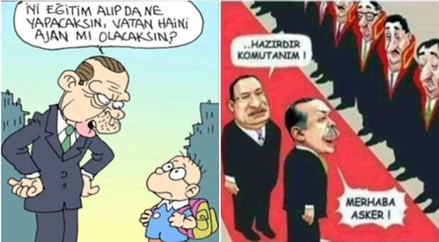 Karikatür paylaşan inşaat işçisine 'Erdoğan'a hakaret'ten 2 yıl 2 ay hapis cezası
