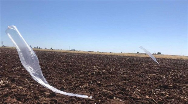Urfa'da tarlaya uçaksavar mühimmatı bağlı balon düştü