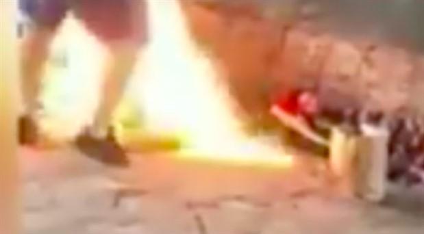 Arjantin'de bir saldırgan evsizlerin üzerine alkol döküp yaktı
