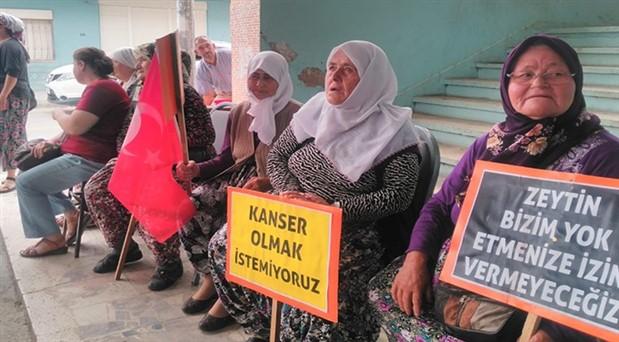 Germencik Hıdırbeyli'de JES Protestosu: Toprağımıza sahip çıkacağız