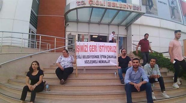 Çiğli Belediyesi'ndeki eylem bayramda da devam edecek