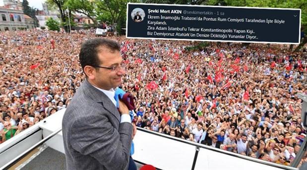 AKP'li yönetici: İmamoğlu, Trabzon'da Pontus Rum Cemiyeti tarafından karşılandı