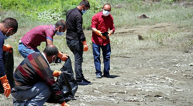 Ayvalı baraj gölünde toplu balık ölümleri