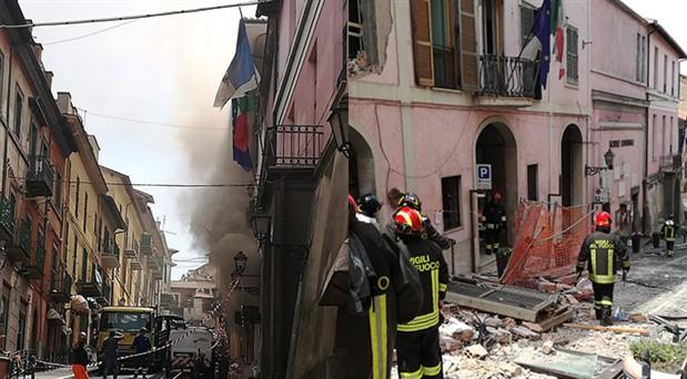 İtalya'da gaz patlaması: 9 yaralı