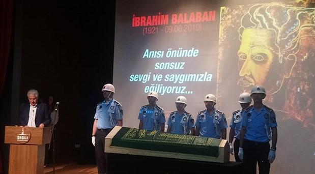Balaban son yolculuğuna uğurlandı