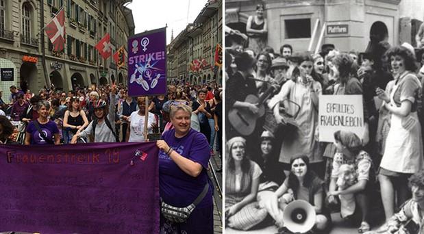 28 yıl sonra aynı yerde, aynı öfke: İsviçre'de kadınlar hayatı durdurdu