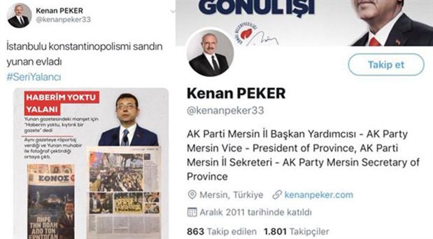 """AKP'li yöneticiden İmamoğlu'na: """"Yunan evladı"""""""