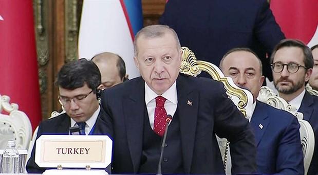 Erdoğan: Kudüs'te yeni oldu bittiler oluşturma gayretlerini reddediyoruz